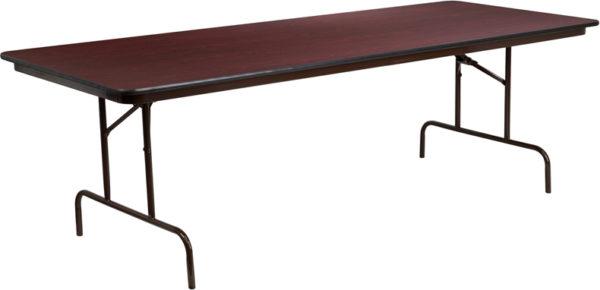 Wholesale 36'' x 96'' Rectangular Mahogany Melamine Laminate Folding Banquet Table
