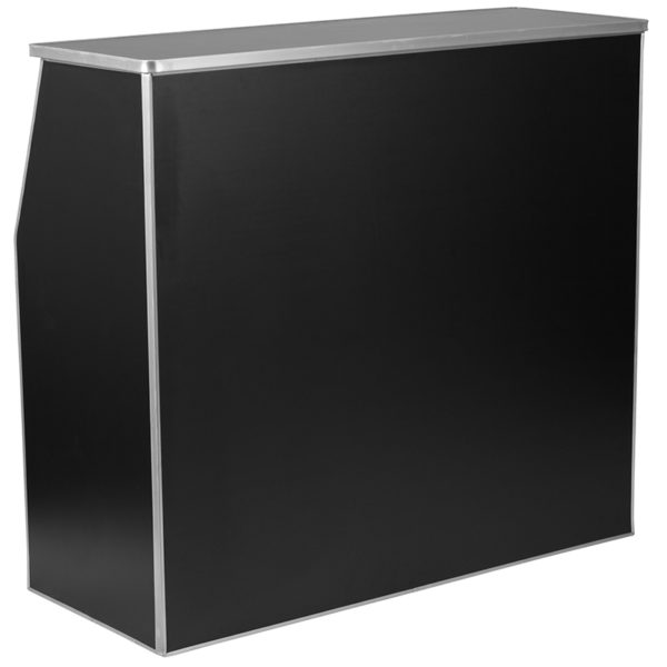 Lowest Price 4' Black Laminate Foldable Bar