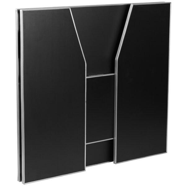 Portable Bar 4' Black Foldable Bar