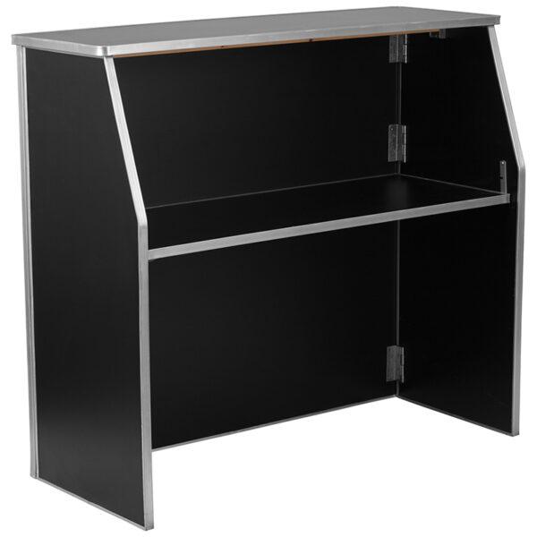 Wholesale 4' Black Laminate Foldable Bar