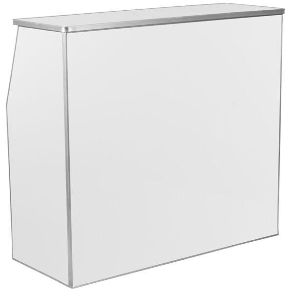 Lowest Price 4' White Laminate Foldable Bar
