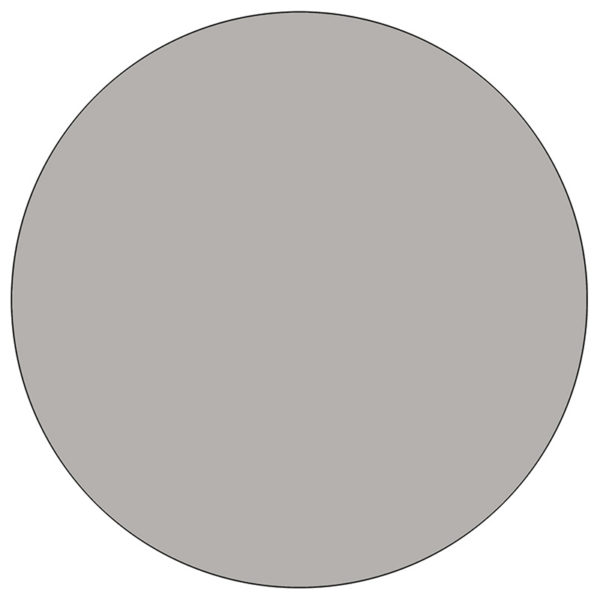 Lowest Price 42'' Round Grey HP Laminate Activity Table - Height Adjustable Short Legs