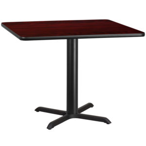 Wholesale 42'' Square Mahogany Laminate Table Top with 33'' x 33'' Table Height Base