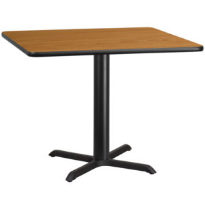 Wholesale 42'' Square Natural Laminate Table Top with 33'' x 33'' Table Height Base