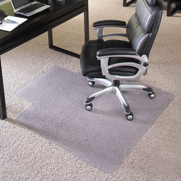 Lowest Price 45'' x 53'' Big & Tall 400 lb. Capacity Carpet Chair Mat with Lip