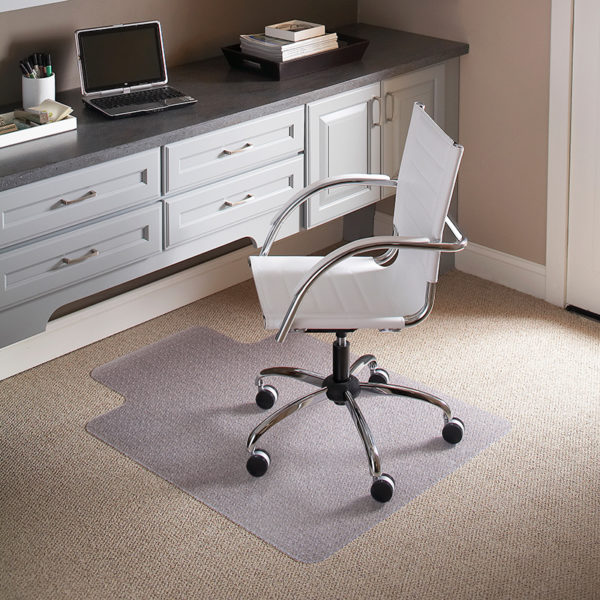 Lowest Price 45'' x 53'' Carpet Chair Mat with Lip