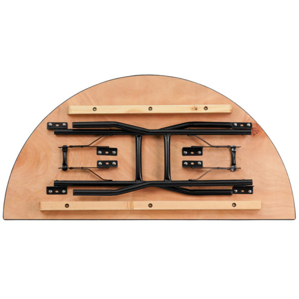 Lowest Price 48'' Half-Round Wood Folding Banquet Table