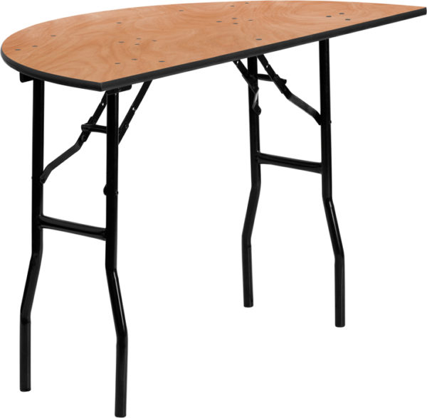 Wholesale 48'' Half-Round Wood Folding Banquet Table