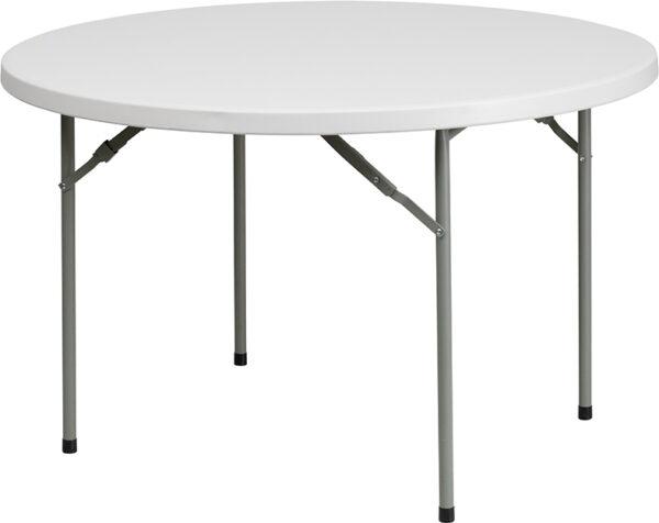 Wholesale 48'' Round Granite White Plastic Folding Table