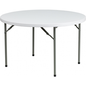 Wholesale 48'' Round Granite White Plastic Folding Table