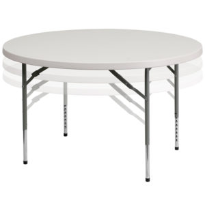 Wholesale 48'' Round Height Adjustable Granite White Plastic Folding Table