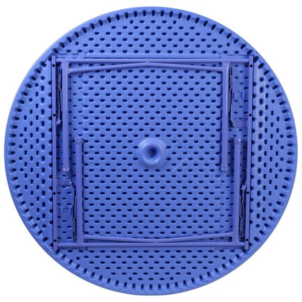 Lowest Price 48'' Round Kid's Blue Plastic Folding Table