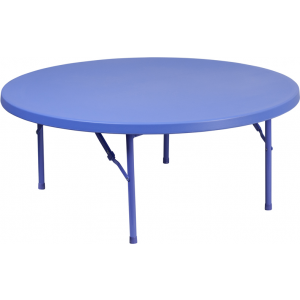 Wholesale 48'' Round Kid's Blue Plastic Folding Table