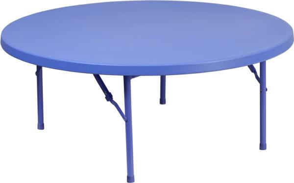 Wholesale 48'' Round Kid's Blue Plastic Folding Table