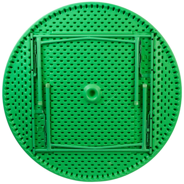 Lowest Price 48'' Round Kid's Green Plastic Folding Table