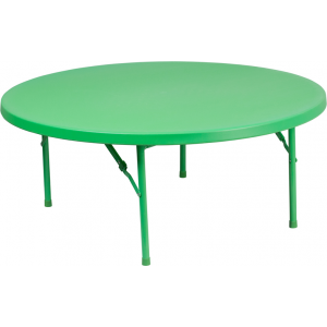 Wholesale 48'' Round Kid's Green Plastic Folding Table