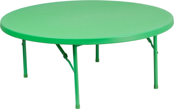 Wholesale 48'' Round Kid's Green Plastic Folding Table