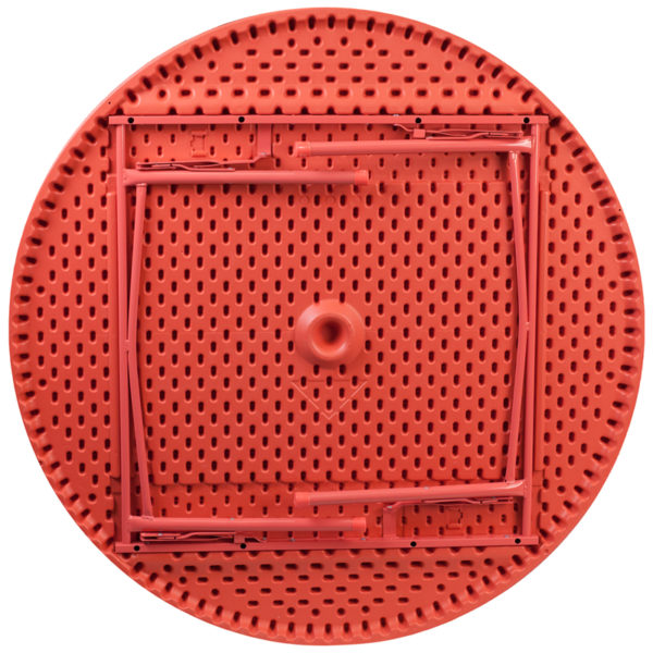 Lowest Price 48'' Round Kid's Red Plastic Folding Table
