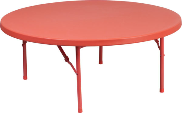 Wholesale 48'' Round Kid's Red Plastic Folding Table