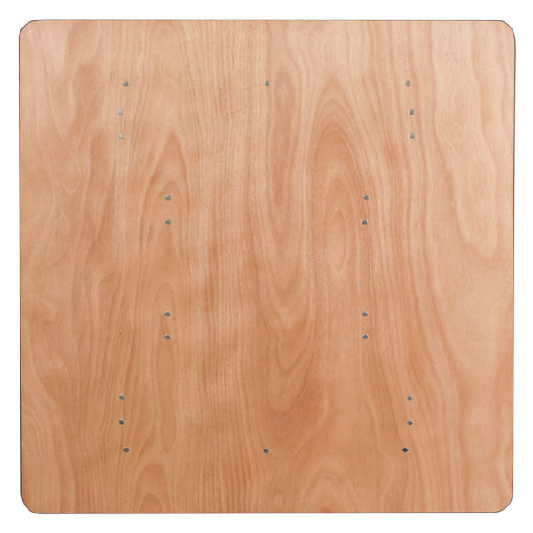 Ready To Use Banquet Table 48SQ Wood Fold Table