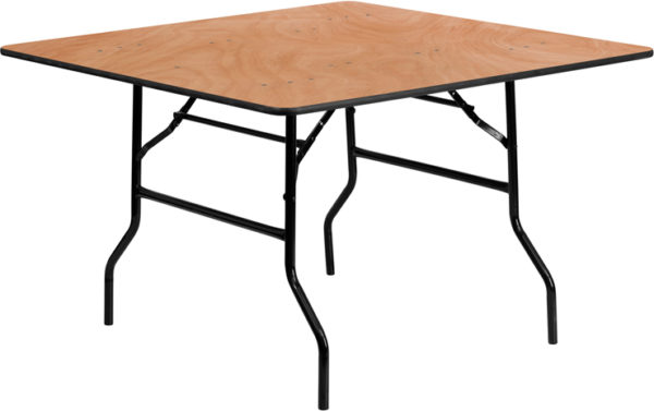 Wholesale 48'' Square Wood Folding Banquet Table