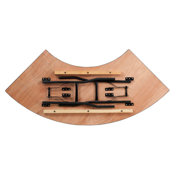 Lowest Price 5.5 ft. x 2 ft. Serpentine Wood Folding Banquet Table
