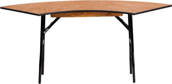 Wholesale 5.5 ft. x 2 ft. Serpentine Wood Folding Banquet Table