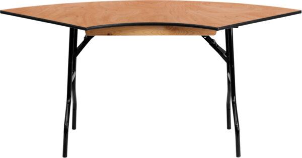 Wholesale 5.5 ft. x 2.5 ft. Serpentine Wood Folding Banquet Table