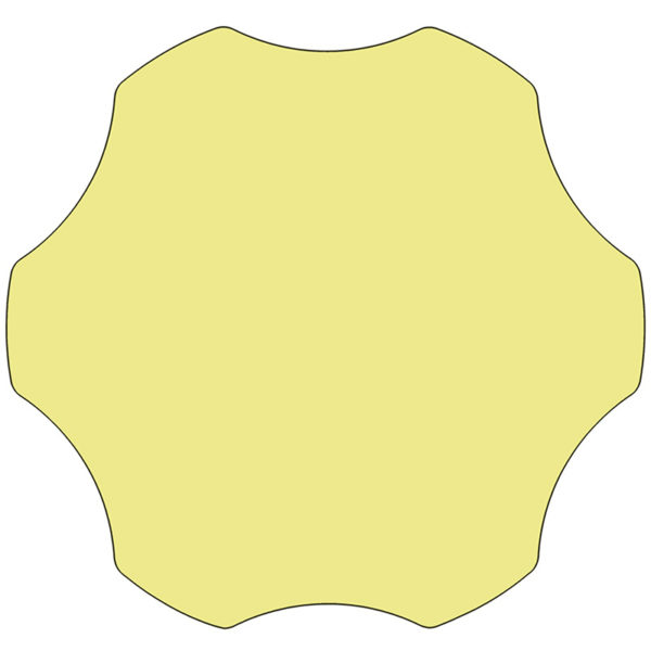 Lowest Price 60'' Flower Yellow Thermal Laminate Activity Table - Height Adjustable Short Legs