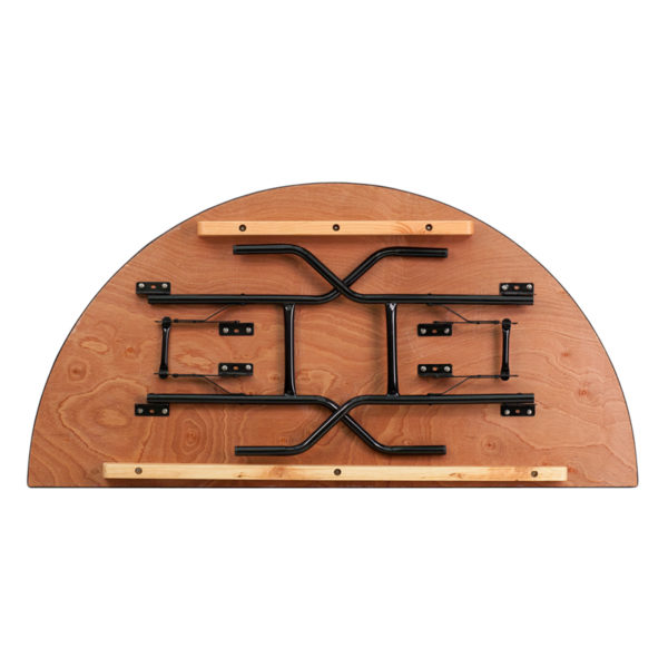 Lowest Price 60'' Half-Round Wood Folding Banquet Table