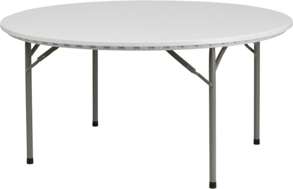 Wholesale 60'' Round Granite White Plastic Folding Table