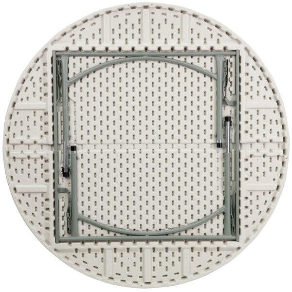 Lowest Price 60'' Round Height Adjustable Granite White Plastic Folding Table