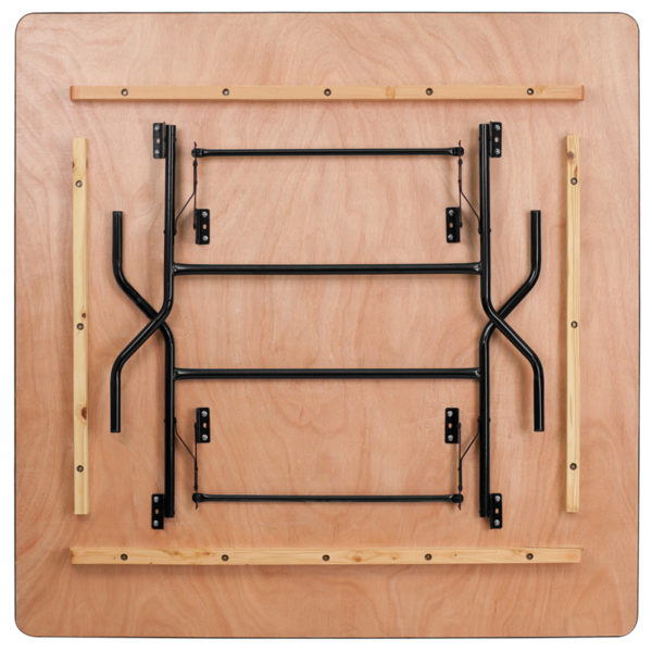 Lowest Price 60'' Square Wood Folding Banquet Table