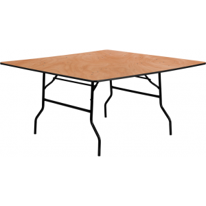 Wholesale 60'' Square Wood Folding Banquet Table