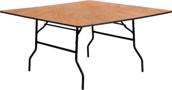 Wholesale 60'' Square Wood Folding Banquet Table