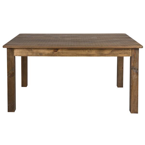 Rustic Style Farmhouse Dining Room Table 60x38 Rustic Farm Table