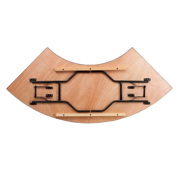 Lowest Price 7.25 ft. x 2.5 ft. Serpentine Wood Folding Banquet Table