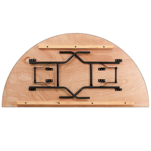 Lowest Price 72'' Half-Round Wood Folding Banquet Table