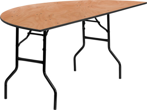 Wholesale 72'' Half-Round Wood Folding Banquet Table