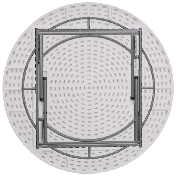Lowest Price 72'' Round Granite White Plastic Folding Table