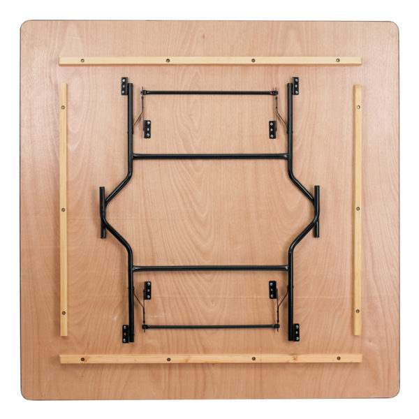 Lowest Price 72'' Square Wood Folding Banquet Table