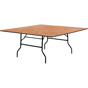 Wholesale 72'' Square Wood Folding Banquet Table
