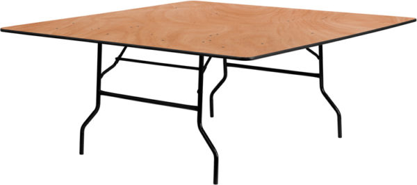Wholesale 72'' Square Wood Folding Banquet Table
