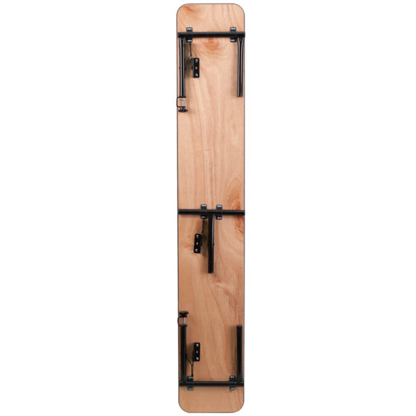 Lowest Price 72'' x 12'' x 12'' Bar Top Riser with Black Legs