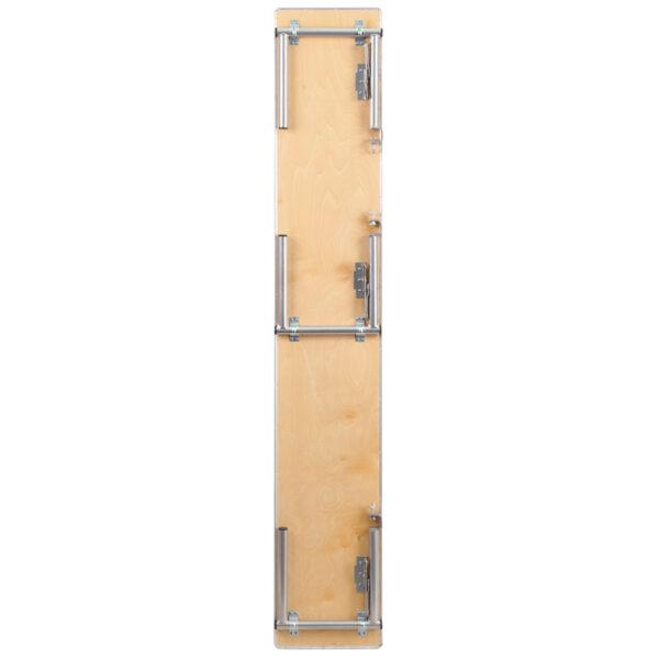 Lowest Price 72'' x 12'' x 12'' Birchwood Bar Top Riser with Silver Legs