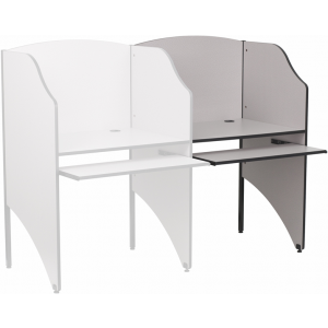 Wholesale Add-On Study Carrel in Nebula Grey Finish