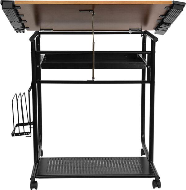 Multipurpose Draft Table Cherry Mobile Draft Table