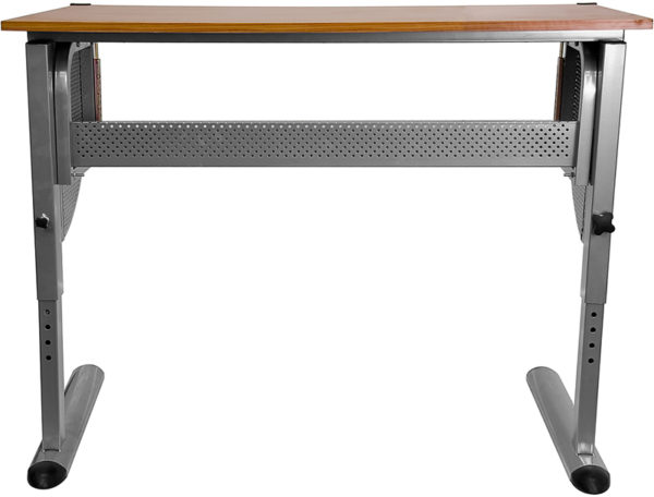 Lowest Price Adjustable Drawing and Drafting Table with Pewter Frame