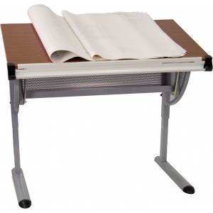 Wholesale Adjustable Drawing and Drafting Table with Pewter Frame