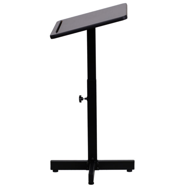 Lowest Price Adjustable Height Metal Lectern in Mahogany